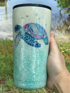 Diy Tumblers, Custom Tumblers, Glitter Tumblers, Girls Tumbler, Tumbler Cups, Beach Cups, Cute Cups, Glitter Cups, Stainless Steel Cups