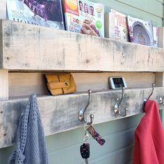 Pallet shelf / coat rack - natural from (del)HutsonDesigns on OpenSky