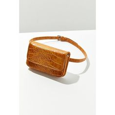 Lera Croc Convertible Belt Bag (130 RON) ❤ liked on Polyvore featuring bags, handbags, shoulder bags, waist bag, hip fanny pack, belt bag, white crossbody handbags and white crossbody