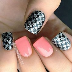 Smashing Houndstooth Nail Art