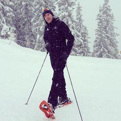El príncipe Emmanuel Filiberto de Saboya disfruta de la nieve en Gstaad