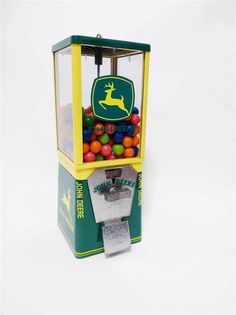 vintage gumball machine JOHN DEERE mower COIN OPERATED candy coin op $0.99 NR