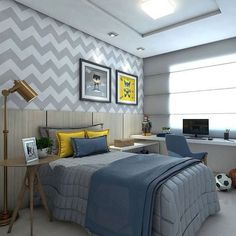 warm modern bedroom design with midcentury dresser via Anne Sage Boy Bedroom Design, Boys Bedroom Decor, Room, Teenager Bedroom Boy, Bedroom Design, Luxurious Bedrooms, Home Decor, Modern Bedroom, Small Bedroom