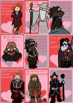 The Hobbit An Unexpected Journey Valentines by gavvie1701 on Etsy
