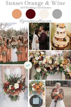 Color wedding colors Possible color scheme October Wedding Colors, Orange Wedding Colors, Fall Wedding Colors, Wedding Flowers, Wedding Color Schemes Fall Rustic, Burnt Orange Weddings, Autumn Wedding, Wedding Goals, Wedding Themes