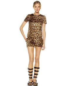 Michael Kors leopard-print mini shorts $695