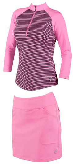 Loris Golf Shoppe has many options in womens golf apparel and day by day the mock neck collar which is showing in image becoming much popular.