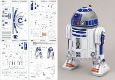 Figuras para armar de papel star wars Imagui - Droids Star Wars - Ideas of Droids Star Wars - Figuras para armar de papel star wars Imagui 3d Paper Crafts, Paper Toys, Star Wars Desenho, Plotter Cutter, Star Wars Origami, Free Paper Models, Star Wars Spaceships, Star Wars Crafts, Cardboard Sculpture