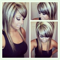 Love the hair color! Hair Color And Cut, Haircut And Color, Hair Highlights, Chunky Blonde Highlights, Bright Blonde, Love Hair, Fall Hair, Ombre Hair, Hair Dos