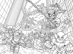 10 exciting Super Heroes images | Avengers coloring pages, Coloring ...