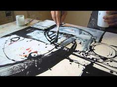 ▶ Artist Agustin Castillo: Working on Abstract 330 - YouTube