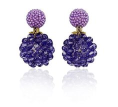 Axel Russmeyer double bead earrings tanzanite and lavender jade