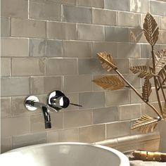 Chic Craquele Dark White - Love these tiles, recently purchased for our bathroom Duck Egg Blue Bathroom Tiles, Wall Tiles Price, Dark White, Topps Tiles, Ceramic Subway Tile, Subway Tiles, Ceramic Flooring, Glazed Tiles, Metro Tiles