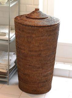 Orchid Rattan Laundry Basket