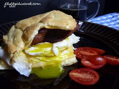 Bacon Egg and Cheese Breakfast Sandwich - Low Carb, Gluten Free