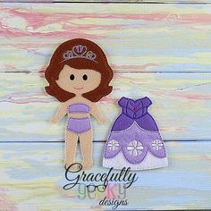 Sofy Dress up Doll - Embroidery Design 5x7 hoop or larger