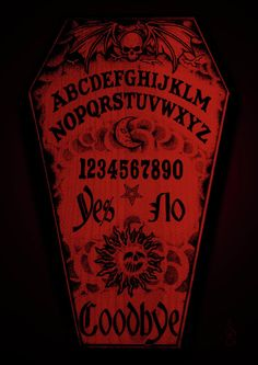Coffin Ouija Digital Art by Steve Hartwell - Coffin Ouija Fine Art ...