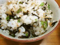 梅干し・ひじき・天かす・大葉・混ぜご飯の画像