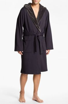 Ugg Men's Australia Brunswick Robe Charcoal | Underwear and Clothing
