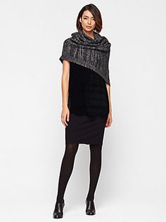 In love with this melanges knit poncho