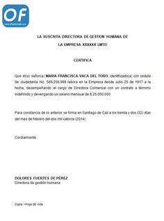 MODELO DE CARTA DE RECOMENDACION LABORAL carta de recomendacion