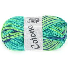 COTONE print 311-emerald / light green / blue / petrol | EAN: 4033493150644