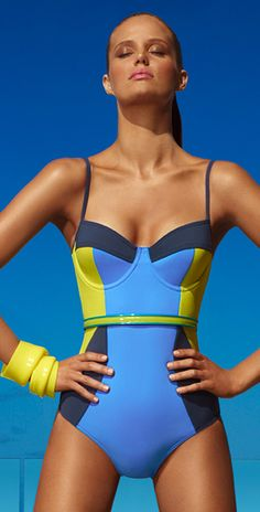 Jets 2013 Clarity Color Block Swimsuit - Swimsuits