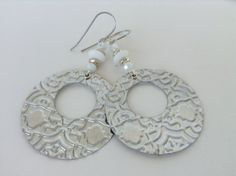 Upcycled Recycled Aluminum Earrings  Silver by RecyclingRedefined, $12.00