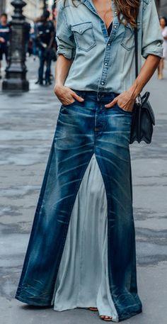 Big Fashion, Denim Fashion, Hijab Fashion, Fashion Weeks, Diy Jeans, Baggy Clothes, Diy Clothes, Style Outfits, Skirt Outfits