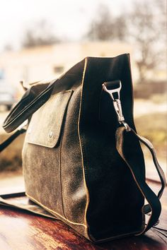 Messenger bag for men. Lifetime natural leather by TropaeisLeather