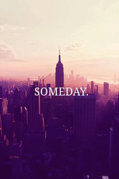 Someday I will be back