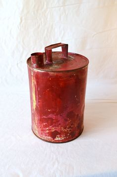 WWW.TABANOVINTAGE.COM  LATA ANTIGUA. / OLD CYLINDRICAL CAN.