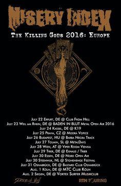 HARD N' HEAVY NEWS: MISERY INDEX - ANNOUNCES NEW SUMMER TOUR DATES