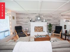 Before & After: A Pallet Wall Without the Pain   Apartment Therapy