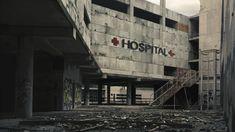 Hospital by M-Delcambre on DeviantArt Apocalypse Aesthetic, Apocalypse Art, Abandoned Asylums, Abandoned Places, Cyberpunk, Abandoned Hospital, Matte Painting, Environment Concept Art, Dark Places