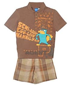 Phineas and Ferb `Mammal of Action` 2-Piece Outfit (Sizes 4 - 7) $9.99