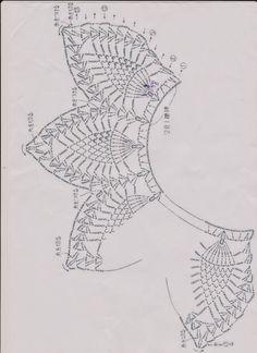 Best 12 crochet patterns in thread – SkillOfKing.Com - Her Crochet Mandala Au Crochet, Crochet Lace Edging, Crochet Diagram, Crochet Doilies, Crochet Flowers, Crochet Collar Pattern, Crochet Numbers, Pinterest Crochet, Crochet Wreath