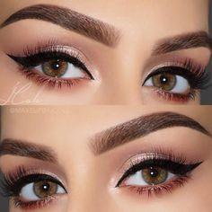 Beautiful @makeupbyjcole ✨Modern Renaissance Palette on eyes ✨ #Dipbrow in Medium Brown on brows  #anastasiabeverlyhills #modernrenaissance