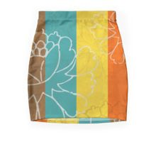 Chinese Flowers & Stripes - Orange Yellow Turquoise Brown Pencil Skirt by Katayoon Photography & Design #chinese #japanese #asian #oriental #flower #floral #beautiful #color #colour #colourful #colorful #stripes #peonies #design #decor #homedecor #minimal #art #artsy #artistic #wallart #artprint #pod #frame #bathroom #bedroom #kitchen #beddings #mug #fabric #ceramic #fashion #tee #leggings #accessories #cover #case #phonecase #phone #iphone #tablet #ipad #Orange #Turquoise #yellow #cyan…