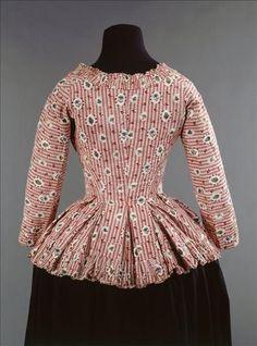 Caraco, coton imprimé. Europe, dernier quart du XVIII°, Musée Galliera (Paris).