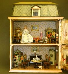 Petite Size Mansard-roofed Dollhouse - By Christian Hacker