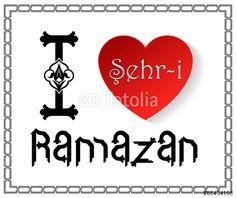 Vektör: I Love You Ramazan Vektörel İllüstrasyon Tipografi