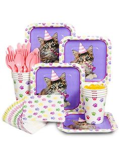 Kitty Cat Party Standard Kit - Kitty Cat Party Supplies