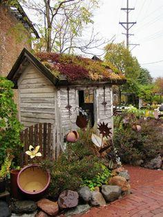 bild vom garten mit steinen - kleines hölzernes haus - 53 erstaunliche Bilder von Gartengestaltung mit Steinen