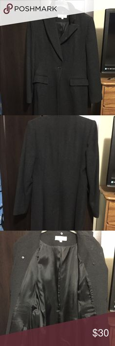 Lena Gabrielle Long Coat. It's used and still in good condition. I didn't wear much only a few times n stay inside my closet for long. Now, I want to see it. Lena Gabrielle  Jackets & Coats Pea Coats