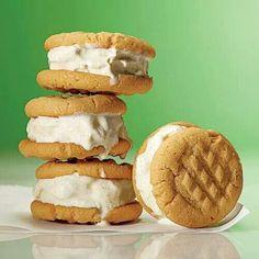 Peanut Butter ice cream bites - yummy! :)