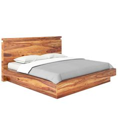 Beautiful wood and a contemporary design create a dynamic look for our Modern Simplicity Solid Wood Platform Bed. Choose a bed in one of four sizes; full, q. Full Size Platform Bed, Solid Wood Platform Bed, King Platform Bed, Platform Bed Designs, Modern Sectional, Doctor Office, Headboards, Contemporary Design, Bb