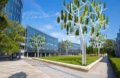 Abre à Vent, el primer árbol que produce energía eólica en París. Esta nueva propuesta de New Wind se trata de un sistema que genera energía eólica en forma de árbol urbanita #ecologia #medioambiente #energia