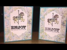 Carousel Birthday with Ink Splattering Technique feat 2017 Occasions Catalog Goodies - YouTube