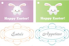 Free Download: Easter Gift Tags & Food Labels To Use On Your Holiday Treats - By The Tasteful Life